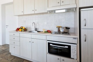 apartment 4 ambelas mare equipped kitchen