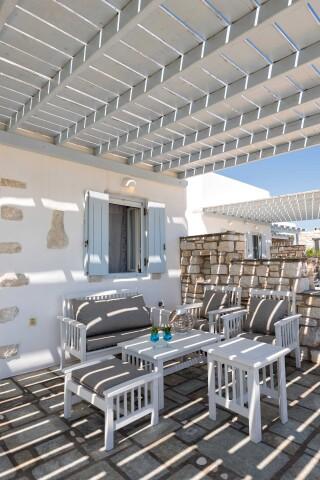 apartment 4 ambelas mare exterior sitting area